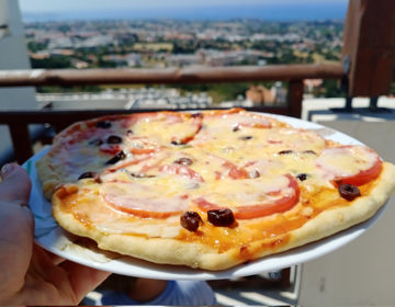Пицца «Маргарита» на бездрожжевом тесте