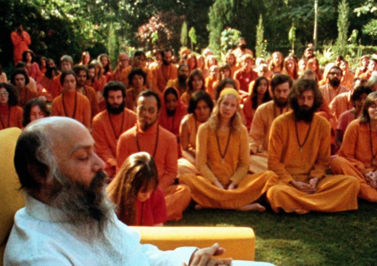 Ошо с учениками в ашраме