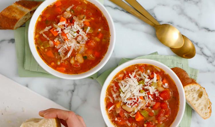фасолевый суп с пармезаном