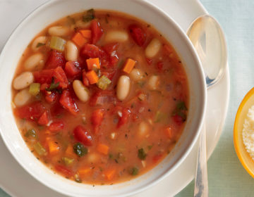 Суп с фасолью вегетарианский