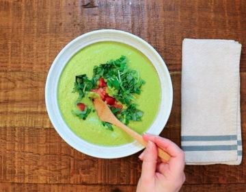 Крем-суп с горошком веганский