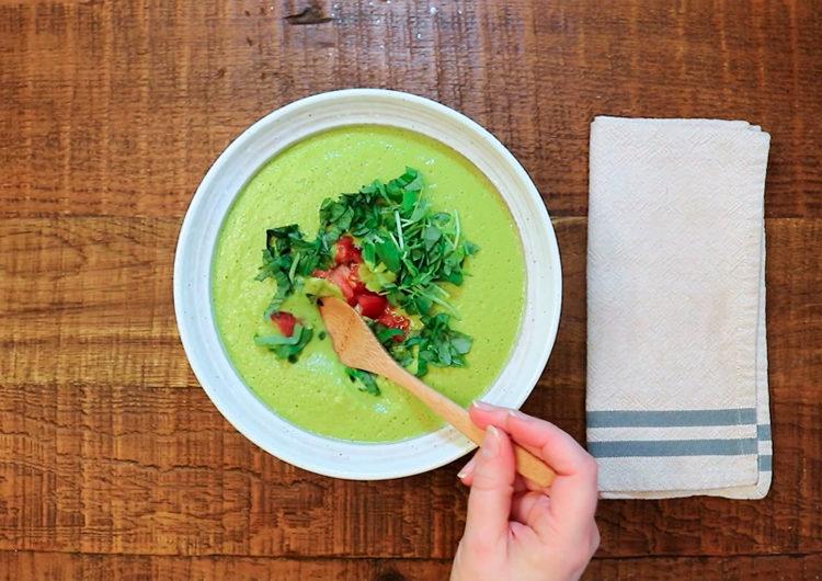 Готовый крем-суп с горошком