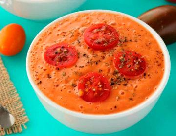 Крем-суп из томатов веганский