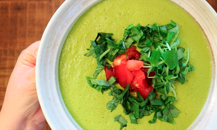 Крем-суп с горошком