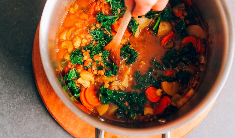 Приготовление чечевичного супа