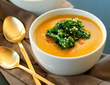 Суп из тыквы веганский