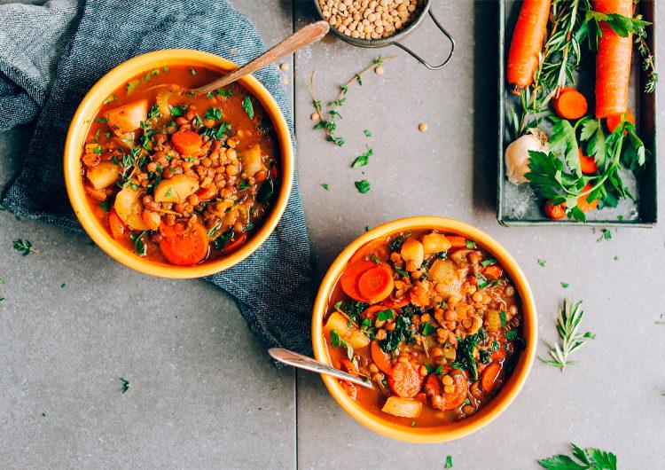 Веганский чечевичный суп