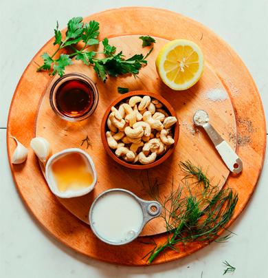 Ингредиенты заправки для салата