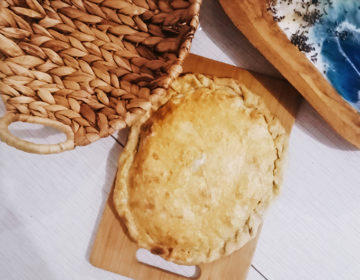 Вегетарианский пирог с сыром и зеленью
